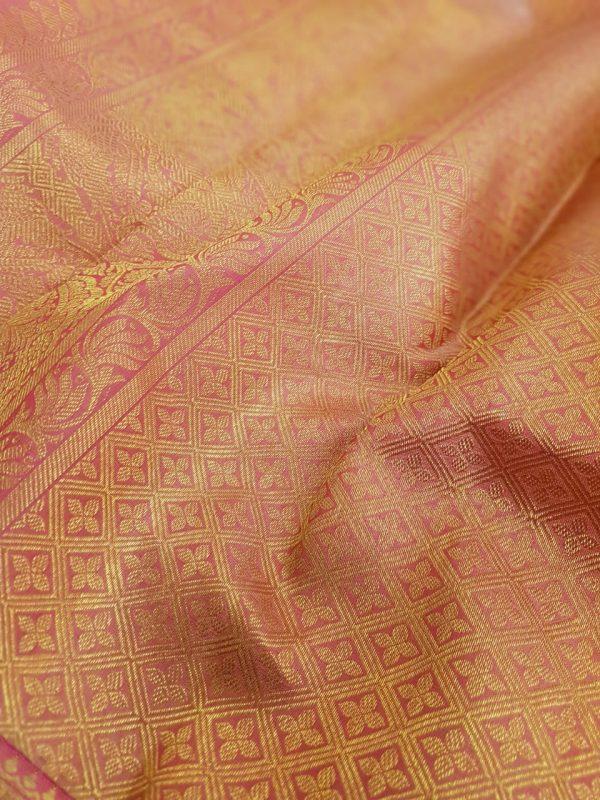 Light pink kanchipuram silk saree with brocade3