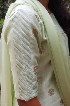 Mint green embroidered kurta2