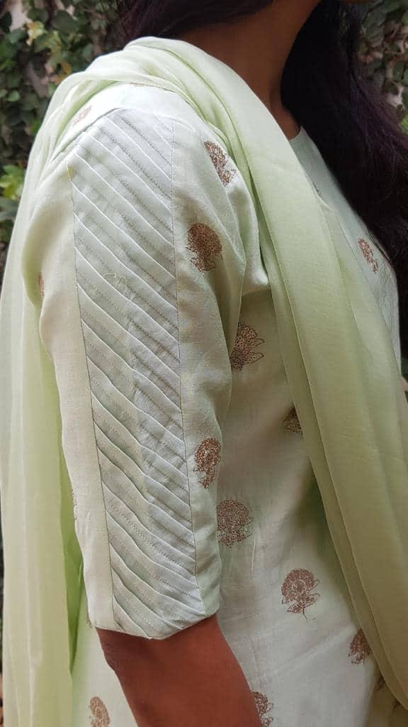 Mint green embroidered kurta2