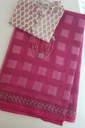 Pink dhabu kota saree2