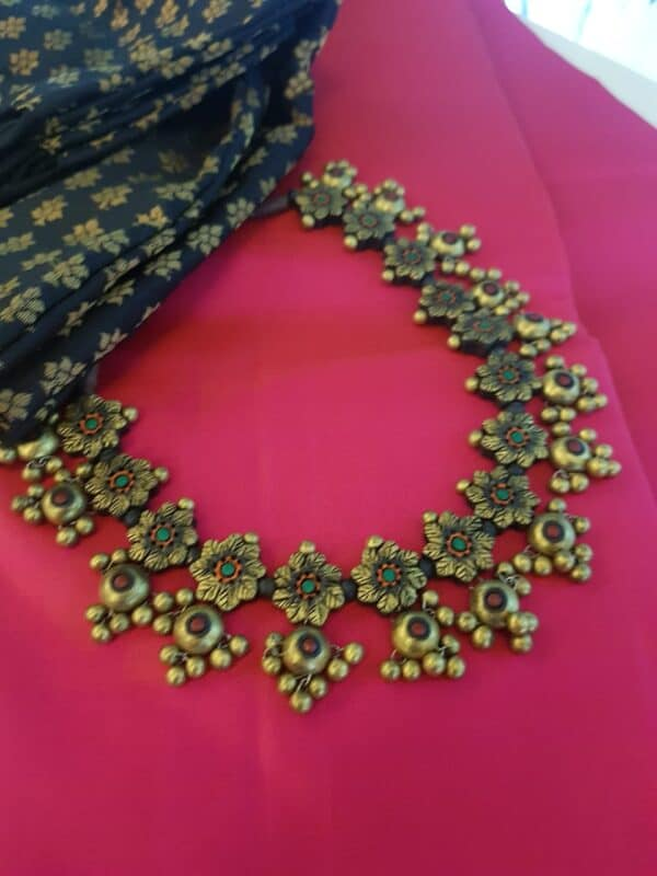 gold terracota neck piece