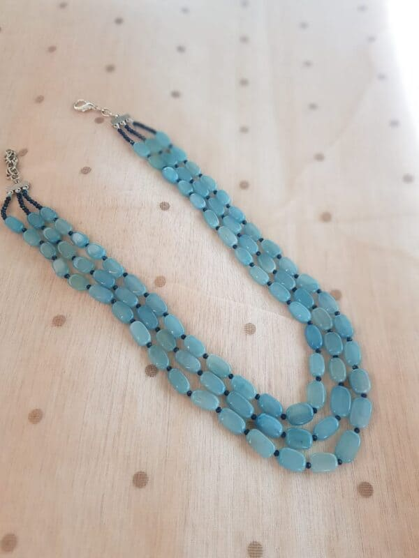 Aqua blue bead string