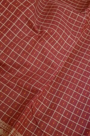 Arakku red kanchi cotton saree with retta pettu3