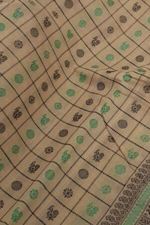 Beige kanchi cotton border3