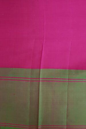 Beige soft silk saree with ganga jamuna border4