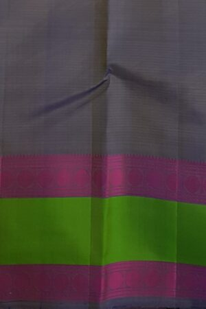 Beige soft silk saree with green border4