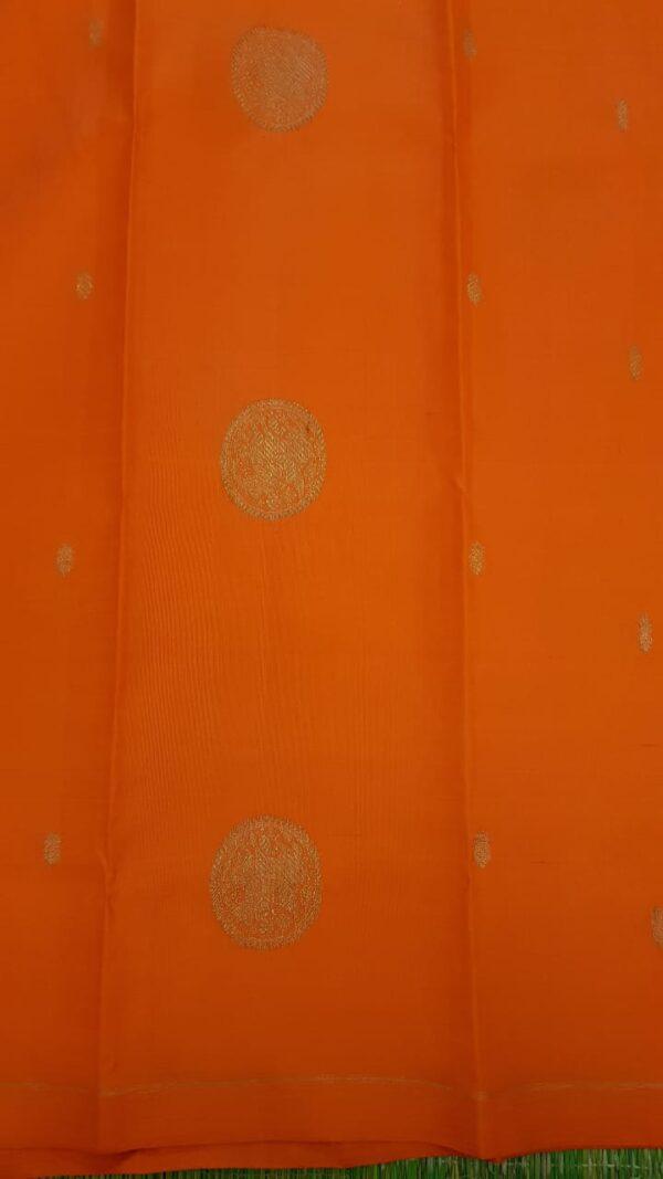 Beige with orange silk border2