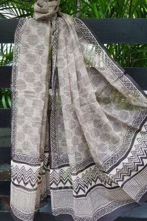 Black and beige kota dupatta2