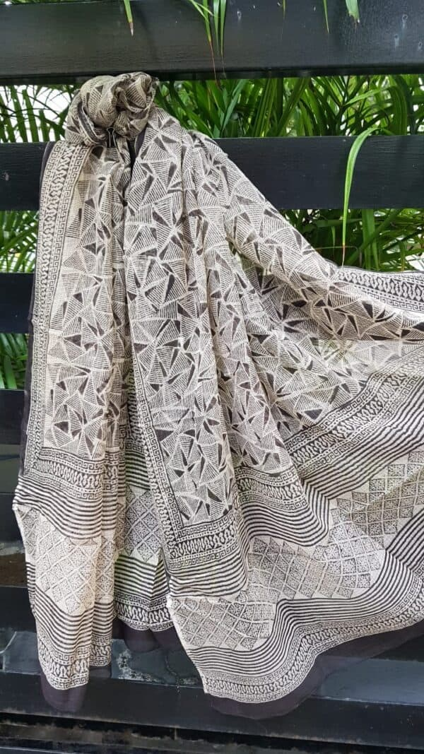 Black and beige kota dupatta3