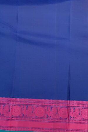 Black soft silk saree with pink buttis1