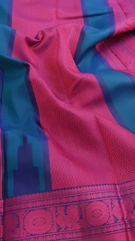 Black soft silk saree with pink buttis3