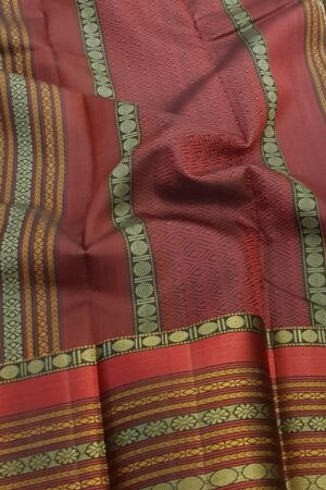Black soft silk saree with red border1