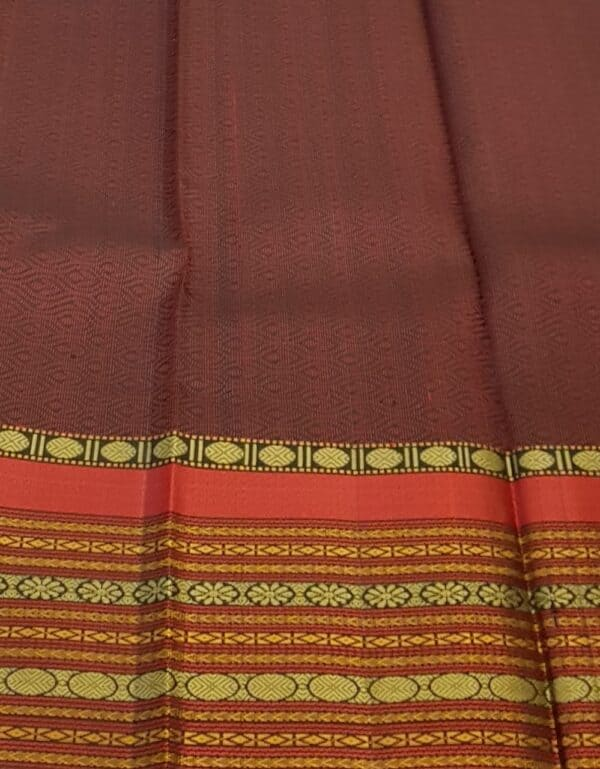 Black soft silk saree with red border4