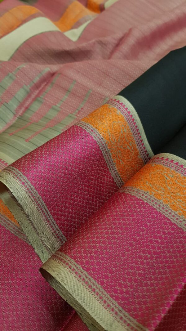 Black soft silk saree1