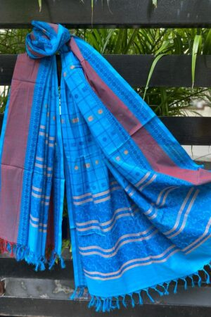 Blue kanchi cotton dupatta