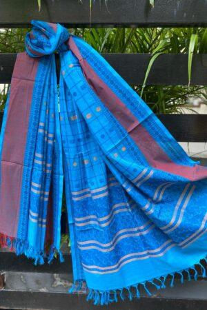 Blue kanchi cotton dupatta