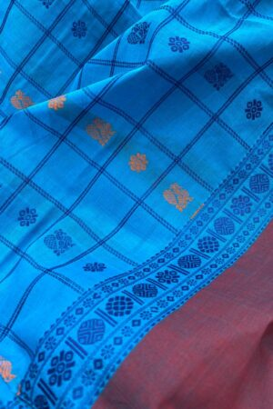 Blue kanchi cotton dupatta2