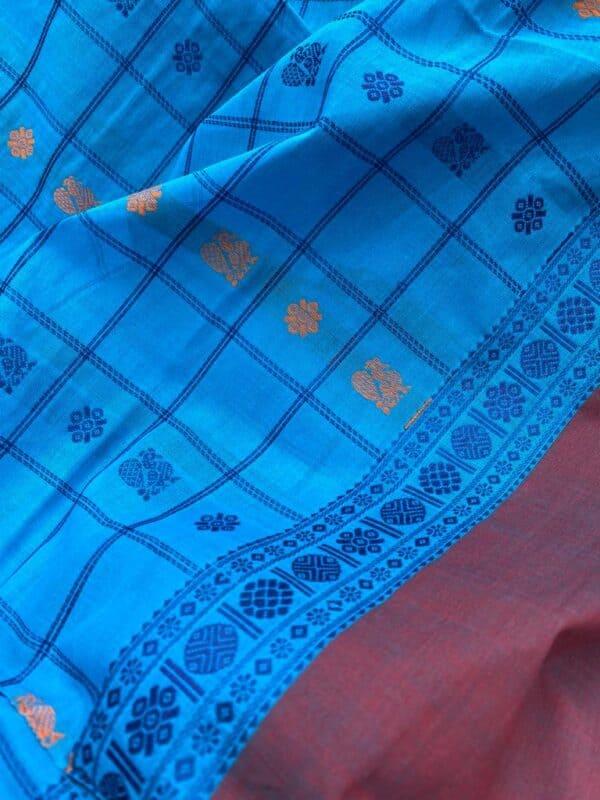 Blue kanchi cotton dupatta2