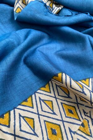 Blue tussar dupatta1
