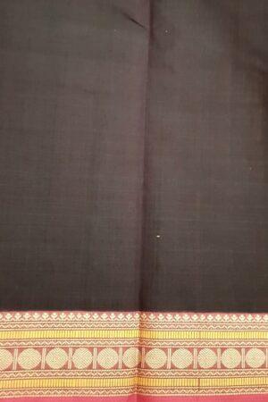 Brown kanchi cotton saree with ganga jamuna border1