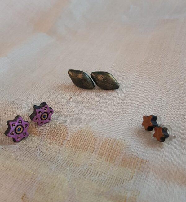 Earrings set of 3