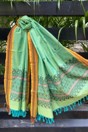 Green kanchi cotton dupatta