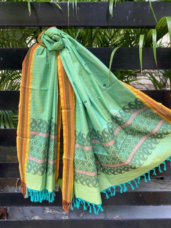 Green kanchi cotton dupatta