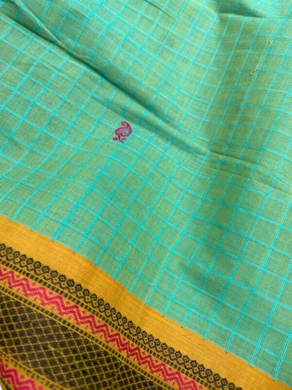 Green kanchi cotton dupatta1