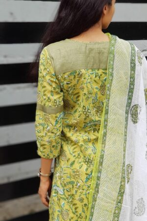 Green mul top with kota dupatta1