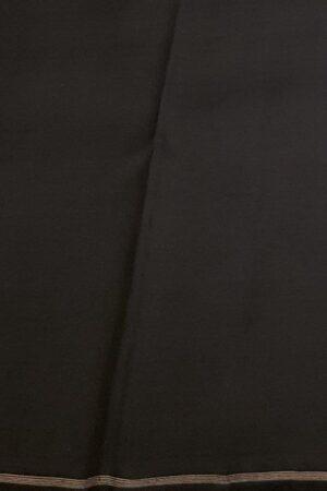 Grey and black half half kanchipuram silk saree3