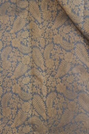 Grey brocade fabric