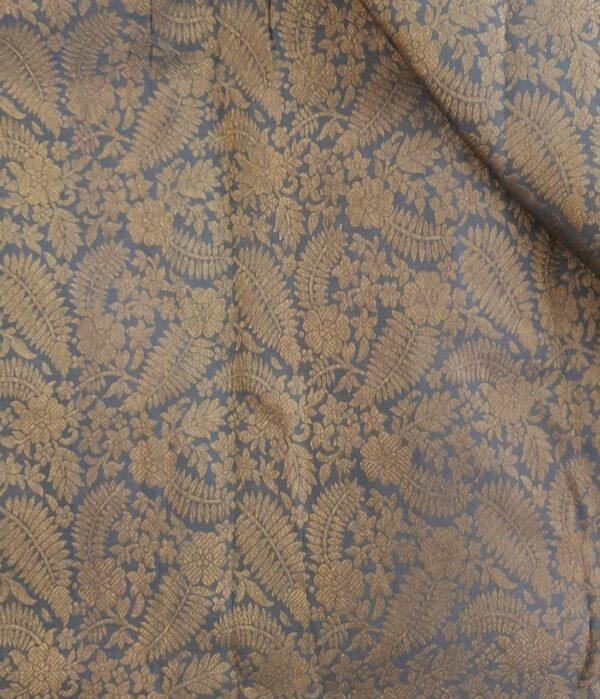 Grey brocade fabric