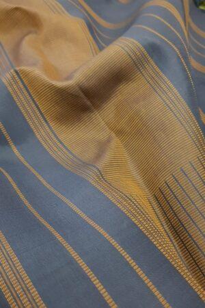 Grey kanchipuram silk saree with thread buttis3