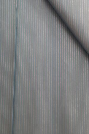 Grey zari lined fabric