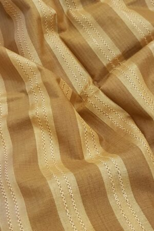 Honey mustard stripes tussar saree1