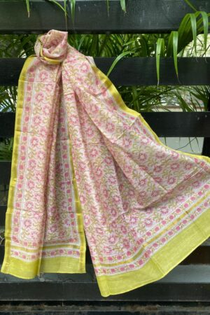 Light pink chanderi dupatta
