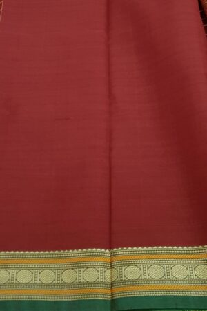 Maroon kanchi cotton saree3
