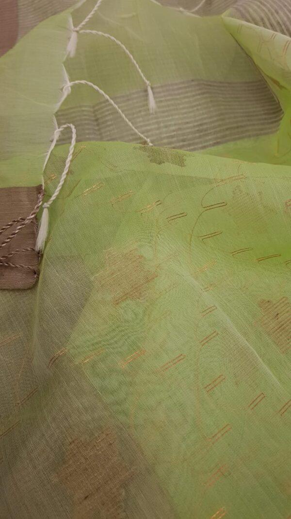 Mint green organza saree2