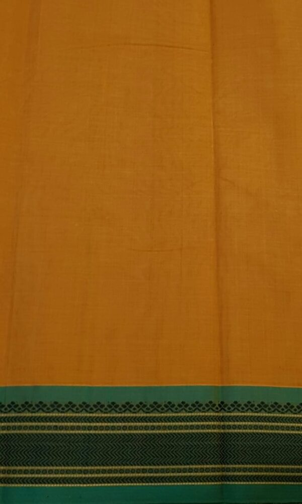 Mustard kanchi cotton saree4
