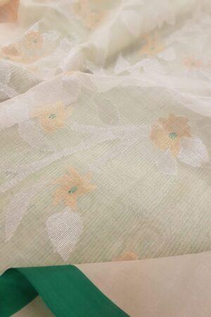 Off white woven organza3