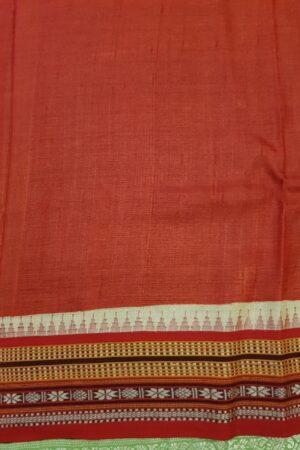 Orange and pink shaded vidarba tussar saree1