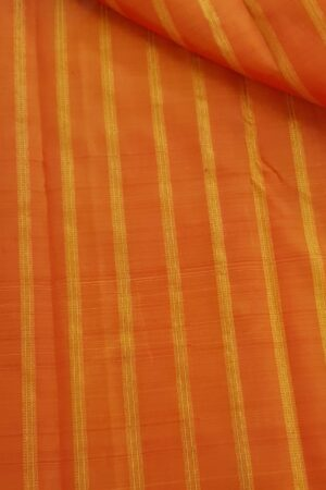 Orange striped fabric