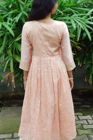 Peach chanderi top1