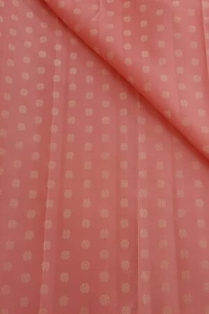 Peach kamalam fabric