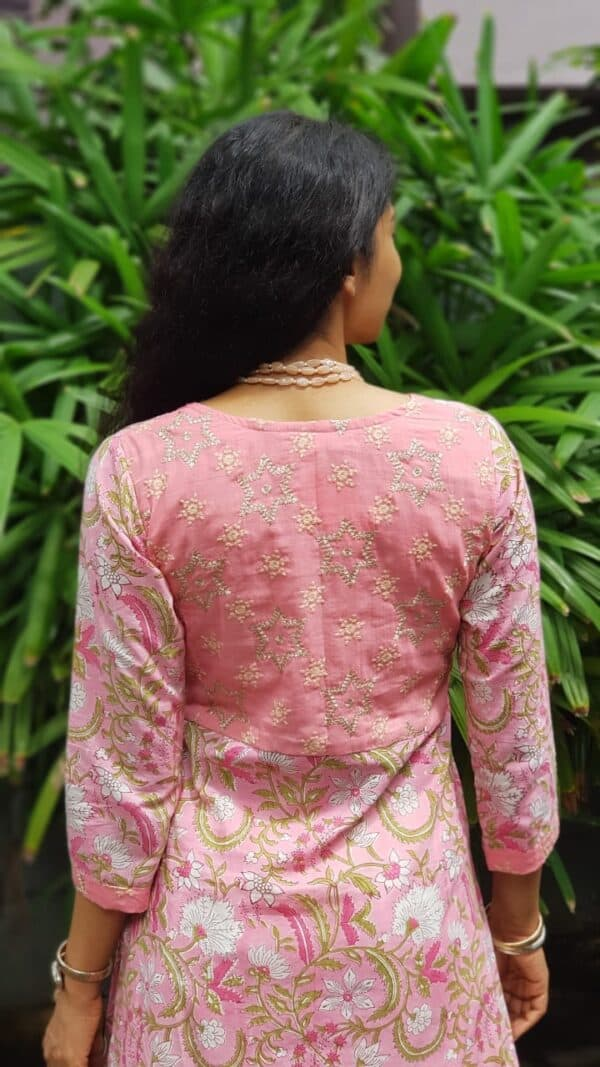 Pink cotton with kota dupatta1