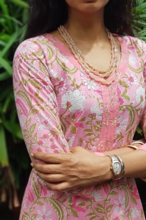 Pink cotton with kota dupatta2