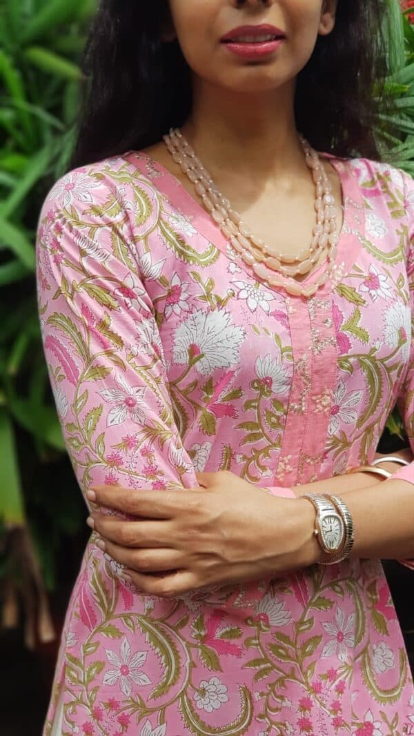 Pink cotton with kota dupatta2