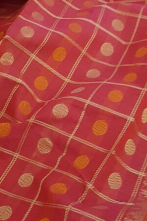 Pink kanchi cotton saree2