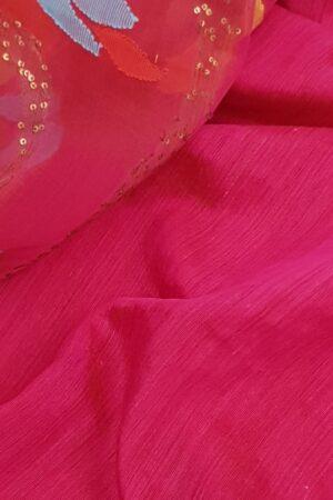 Pink organza with jamdhani design2