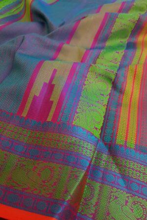 Pink soft silk saree1